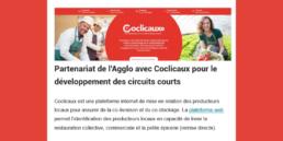 Partenariat de l'Agglo avec Coclicaux pour le développement des circuits courts